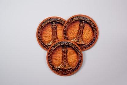 Wooden effect round coaster