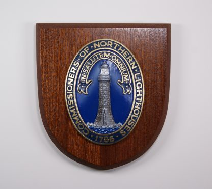 Shield Plaque in wood with raised NLB logo