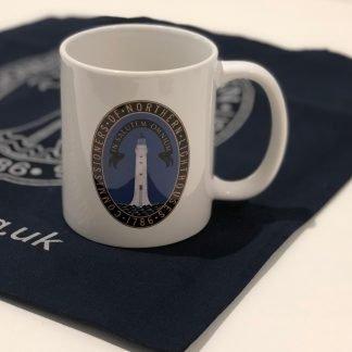 NLB white mug with logo