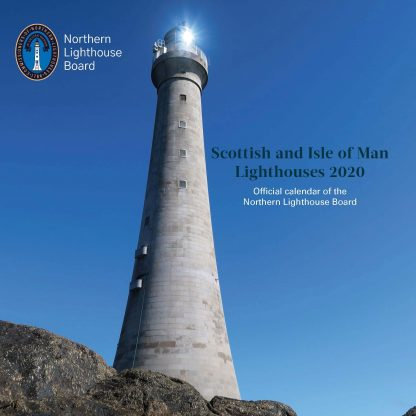 Front cover of calendar showing Skerryvore Lighthouse
