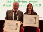 Chief Caterers receive healthy living award