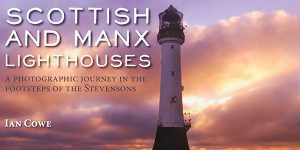 Front cover of Scottish and Manx lighthouses book