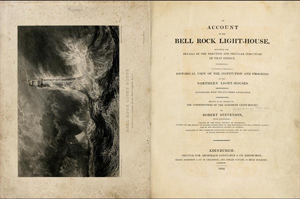 Opening pages of Stevenson's account of Bell Rock